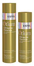 Шампунь-уход и бальзам-питание для восстановления волос Estel Otium Miracle Revive
