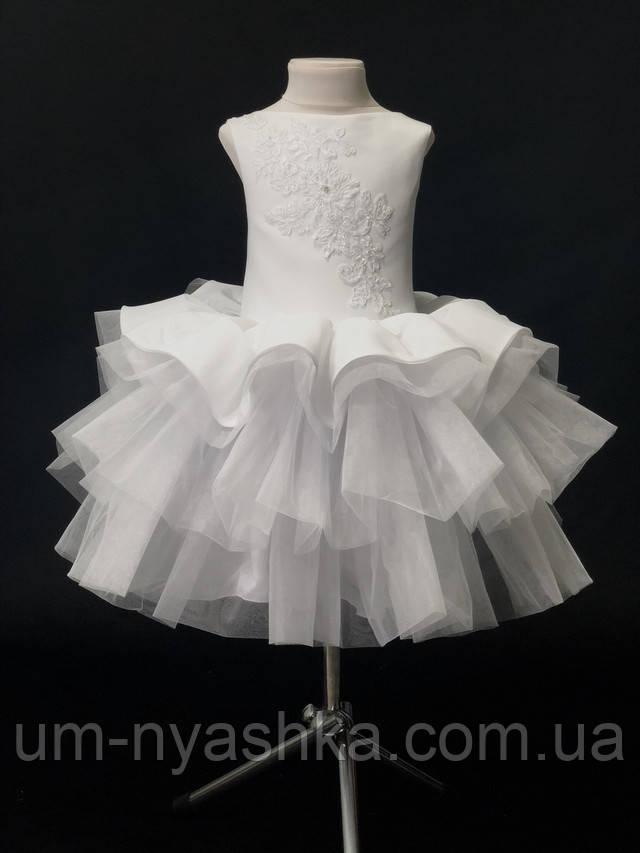 пышное белое платье снежинка на девочку 4-5, 6-7 лет