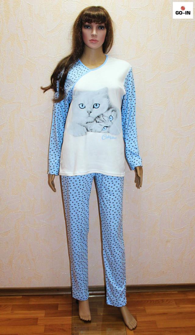 Пижама женская теплая интерлок