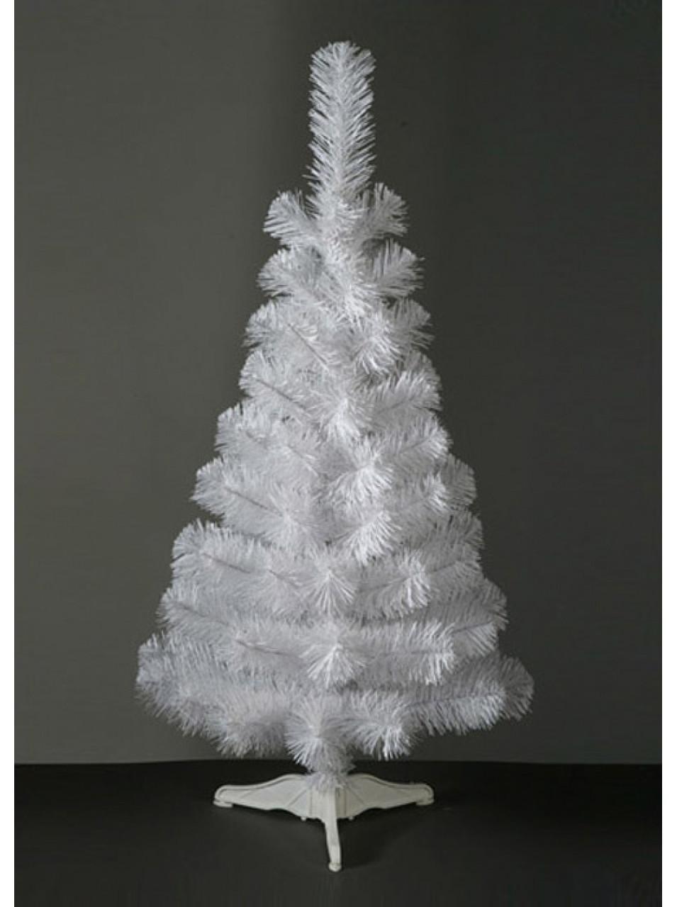 Елка новогодняя белая искусственная 2,2 м ПВХ «Сказка»