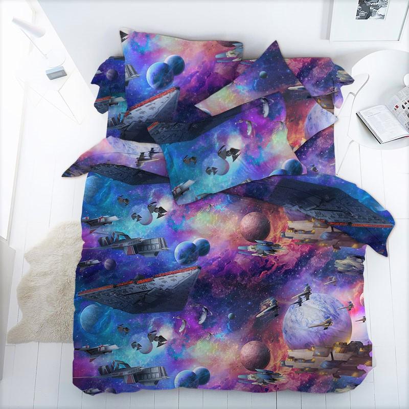 Постельное белье Космос бязь ТМ Царский дом в кроватку