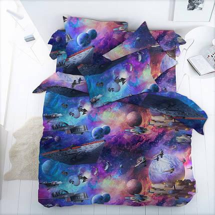 Постельное белье Космос бязь ТМ Царский дом в кроватку, фото 2