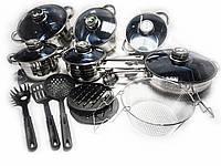 Набор посуды Zinberg на 18 предметов из нержавеющей стали (ZB-888)