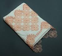 Махровые полотенца 50*90 см. с кружевом и бусинками Турция