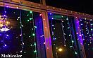 Новогодняя гирлянда бахрома разноцветного свечения Xmas Мультиколор 120 LED (3,5*0,45 метров), фото 3