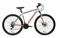 """Велосипед горный мужской 29"""" Formula Thor 1.0 2020 алюминиевая рама 20"""" серебристо-черный с красным"""
