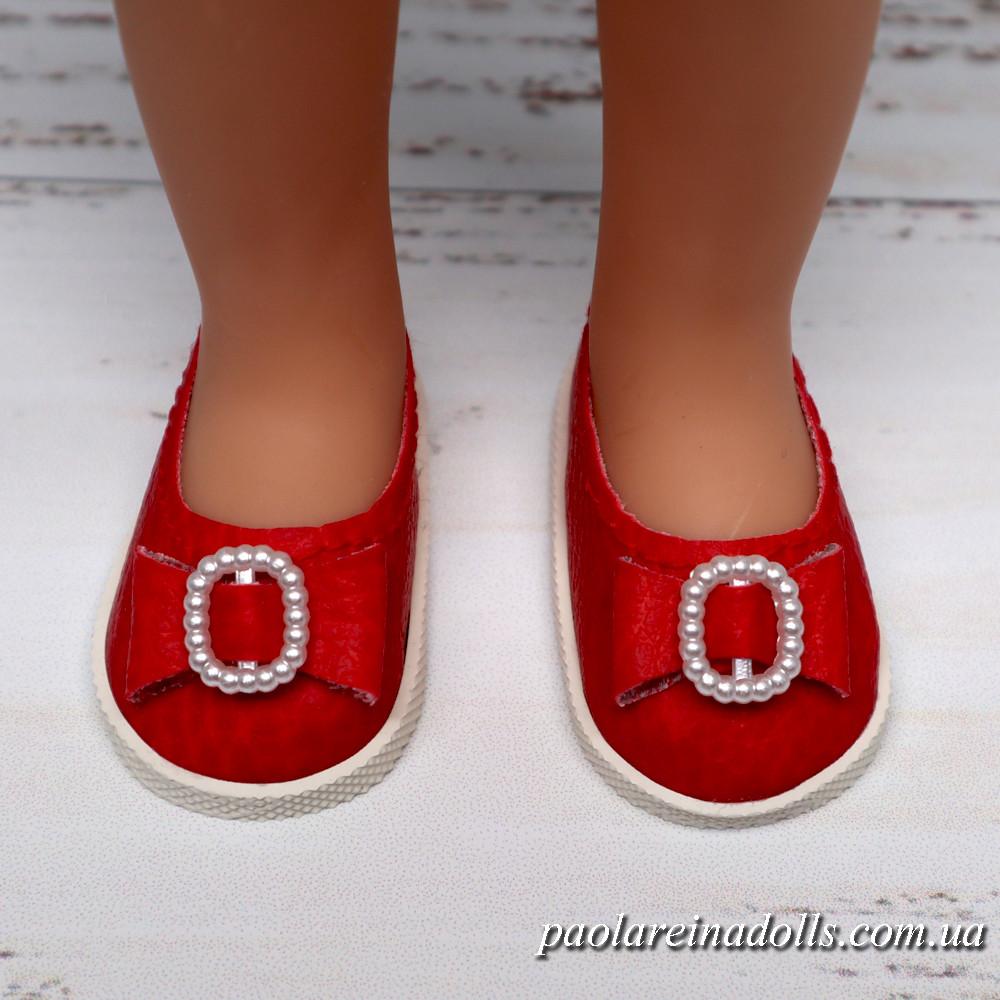 Туфли красные с бантиком для кукол Паола Рейна