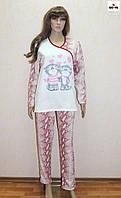 Пижама женская начес с накатом бордовая 46-56 р.