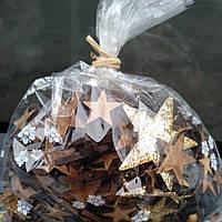Декор Новогодний звёздочки из дерева