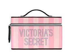 Victoria's Secret Фірмова Сумочка-Кейс Signature Stripe Runway Vanity Case