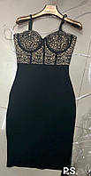 Сексуальное платье с кружевными лифом P.S