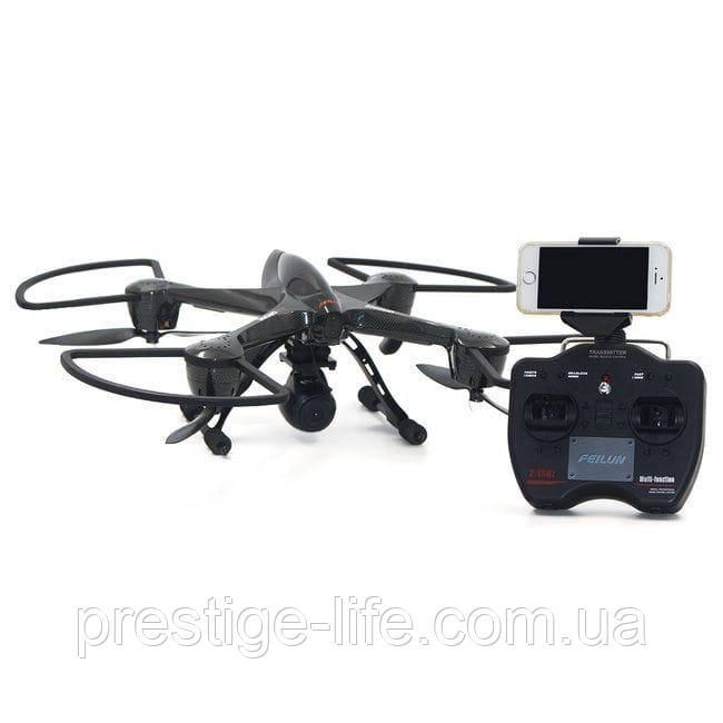 Квадрокоптер FEILUN FX122C6 с FPV-камерой, с гироскопом и Wi-Fi Черный