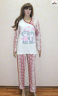Пижама женская начес с накатом бордовая 46-56 р., фото 1