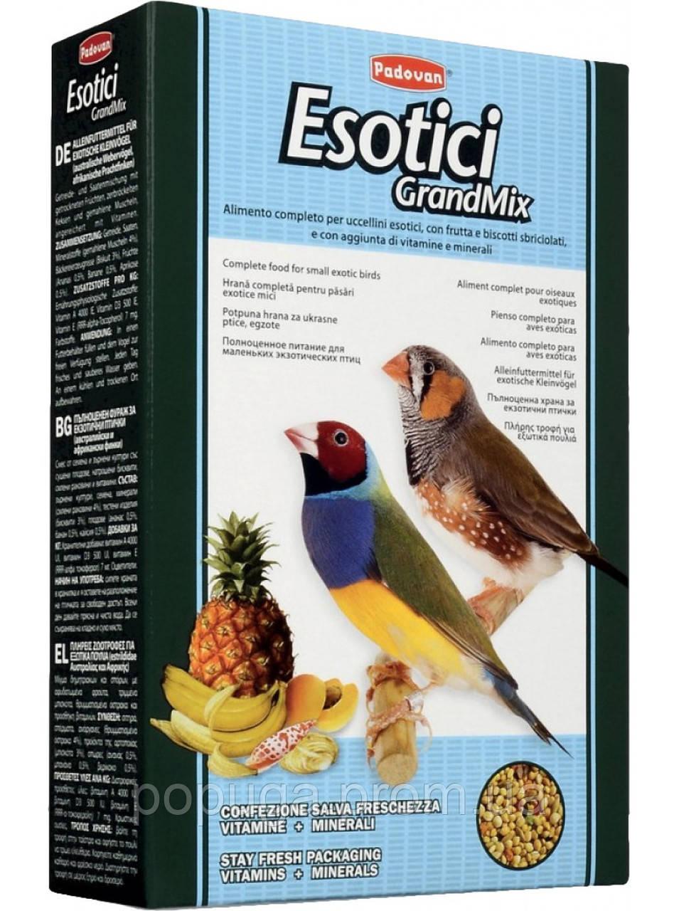Padovan GrandMix Esotici полноценный корм для экзотических птиц, 400 г