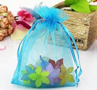 Мешочек из органзы /размер 10х15 см./ упаковка подарков/ цвет бирюзовый