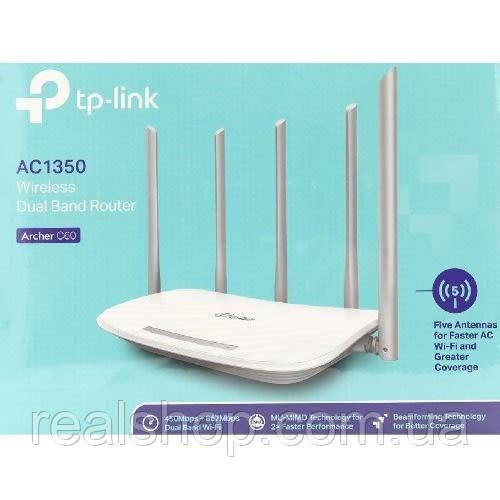 Маршрутизатор TP-LINK Archer C60 AC1350 Двухдиапазонный Wi-Fi роутер