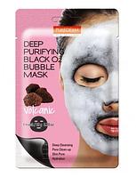 Пузырьковая кислородная тканевая маска Purederm Black O2 Bubble Mask Volcanic