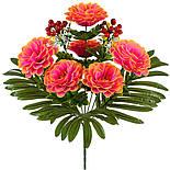 Букет хризантеми з калиною, 51см (10 шт в уп), фото 2