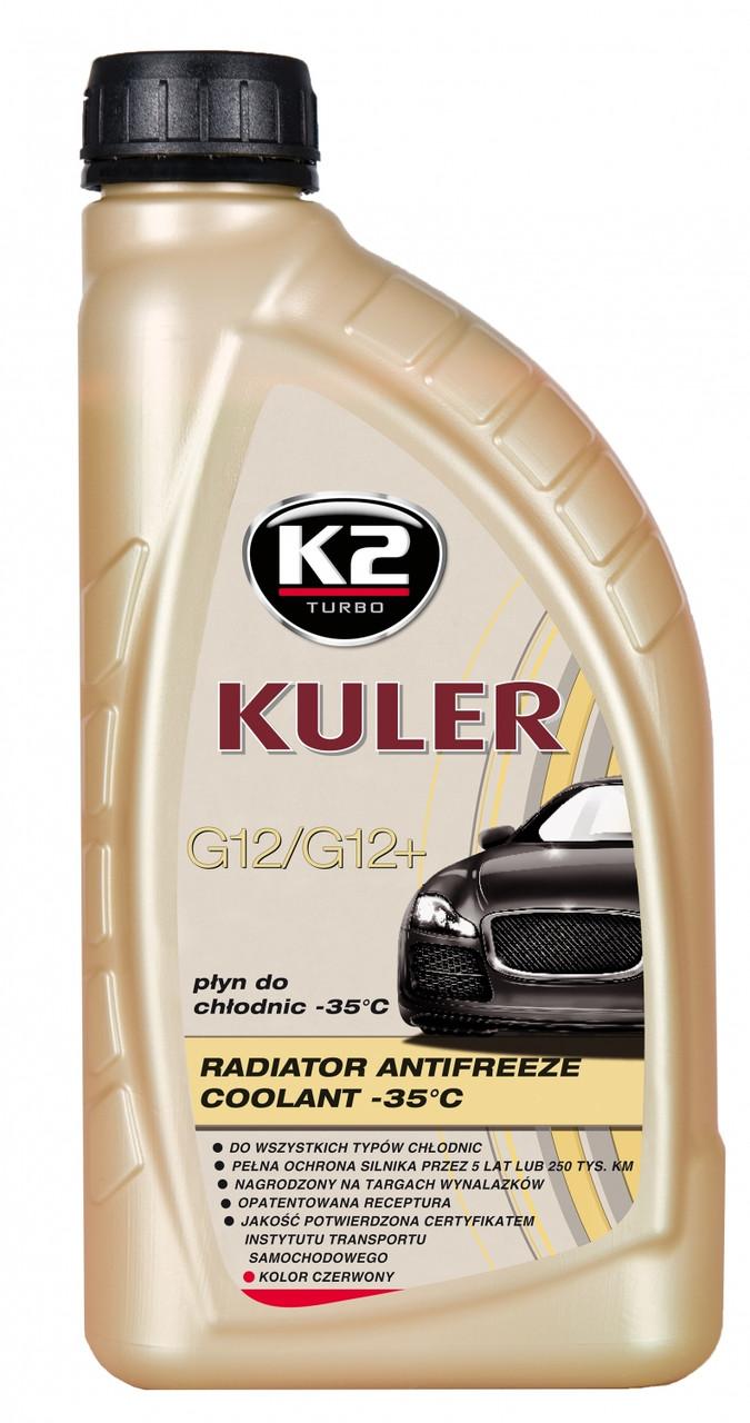 """Антифриз """"K2"""" Kuler -37 (красный) 1 л G12/12+ (охлаждающая жидкость)"""