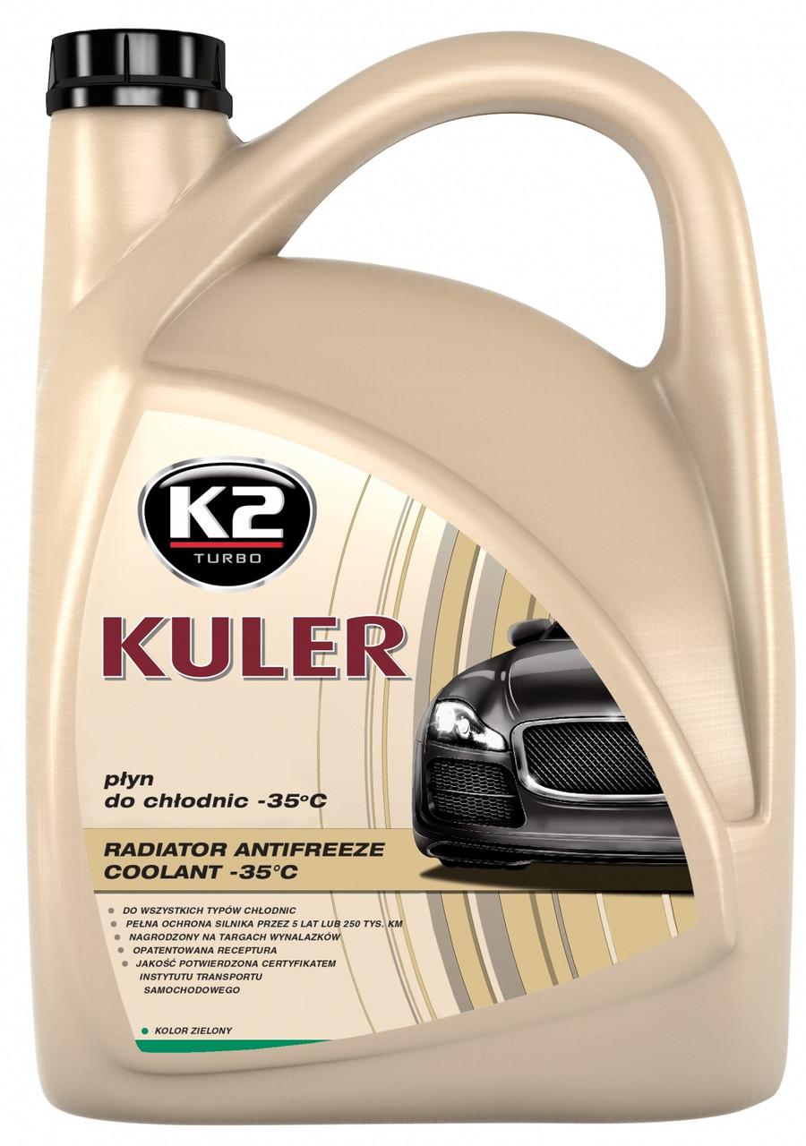 """Антифриз """"K2"""" Kuler -37 зеленый 5 л G11 (охлаждающая жидкость)"""