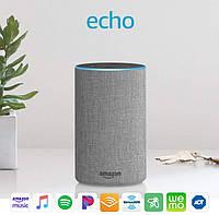 Amazon Echo 2 (2nd Generation) Bluetooth Wi-Fi колонка с голосовым ассистентом Alexa Цвет Heather Gray Fabric