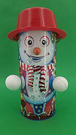 Новогодний тубус для конфет  средний /Снеговики (1 шт)