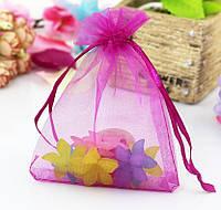 Мешочек из органзы /размер 10х15 см./ упаковка подарков/ цвет фуксия