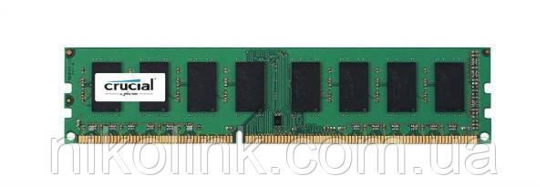 Память Crucial DDR3 4GB PC3-12800U (1600Mhz) (CT51264BA160BJ.M8FED)(8x1/1.5V) - Б/У