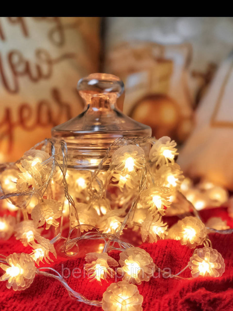 """Новогодняя гирлянда от электричества на елку «Тёплые шишки"""""""