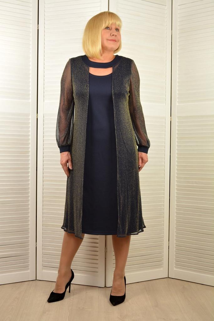 Платье с накидкой из люрекса - Модель Л470-4