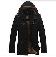 Мужское зимнее пальто. Мужское осеннее пальто.Мужское пальто с капюшоном.модель м27-1