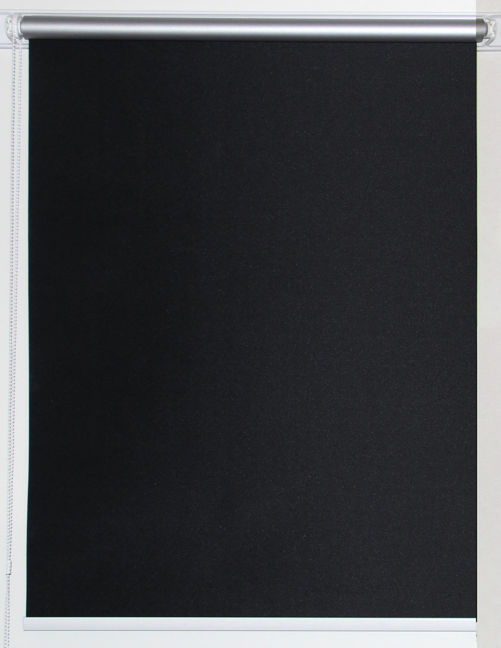 Рулонная штора 550*1500 Блэкаут Сильвер Чёрный