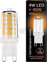 Лампа светодиодная Gauss Black 4 Вт капсульная прозрачная G9 220 В 2700 К 107309104