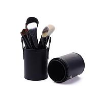 Набор профессиональных кистей для макияжа МАС 12 шт в тубусе черные
