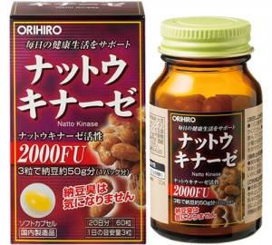 ORIHIRO Наттокиназа 2000FU 60 капсул на 20 дней