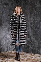 "Шуба з шиншили Чорний оксамит"" Natural chinchilla fur coats jackets"