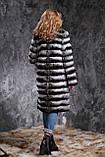 "Шуба из шиншиллы ""Черный бархат"" Natural chinchilla fur coats jackets, фото 3"
