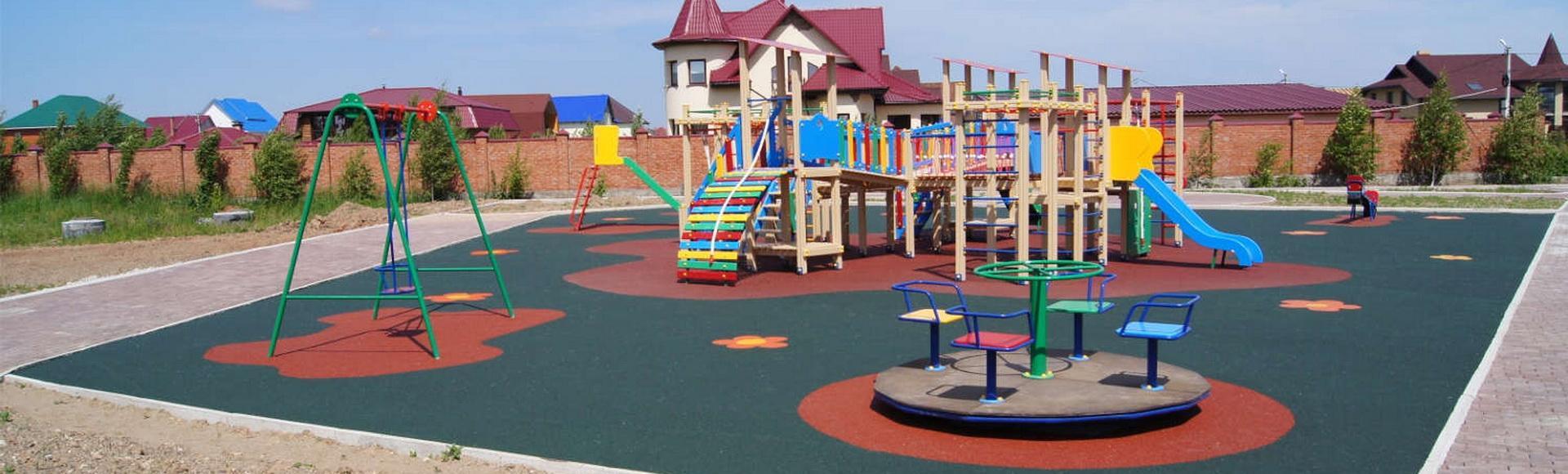 Безопасная спортивная и детская площадки с покрытием TNP GROUP Ukraine