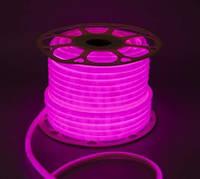 Светодиодная лента NEON 220В 2835-120м IP65 Розовый.( премиум)