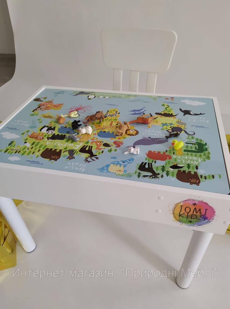 Световой развивающий игровой детский стол 6 в 1. Код 555001