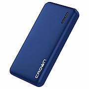 Портативное зарядное устройство Power bank Crown CMPB-604 blue 10000mAh