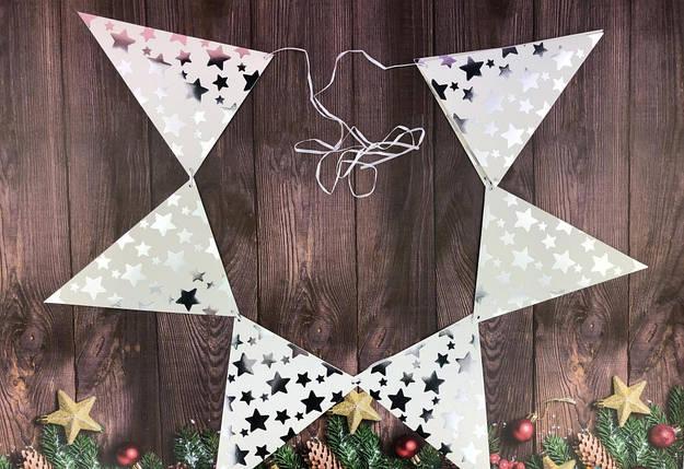 Праздничная гирлянда / Звезды  на треугольниках, 230 см, фото 2