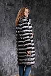 "Шуба из шиншиллы ""Черный бархат"" Natural chinchilla fur coats jackets, фото 4"