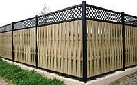 Плетенный забор с решеткой LNK, фото 1