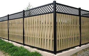 Плетенный забор с решеткой LNK