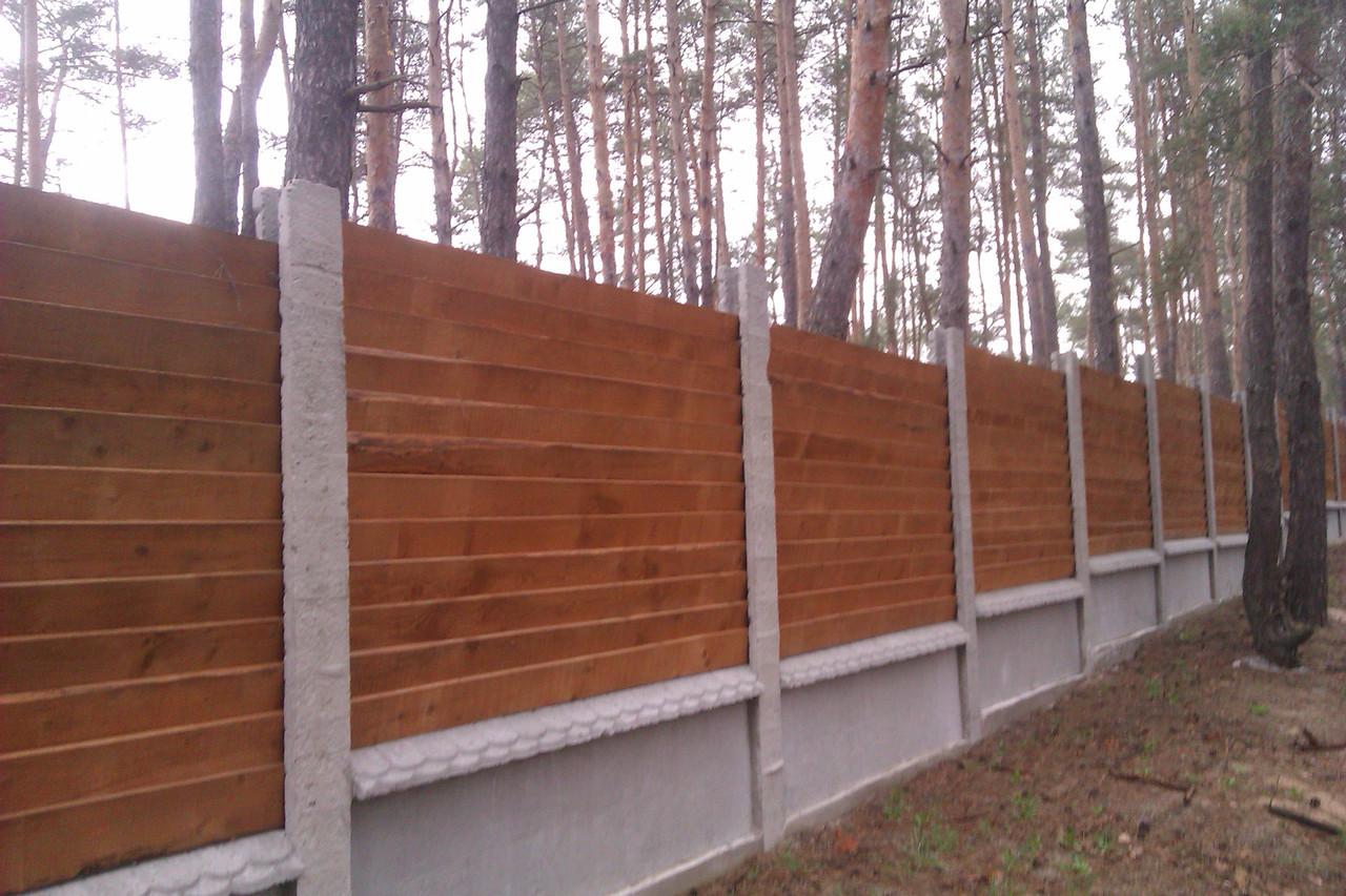 Комбинированный деревянный забор LNK