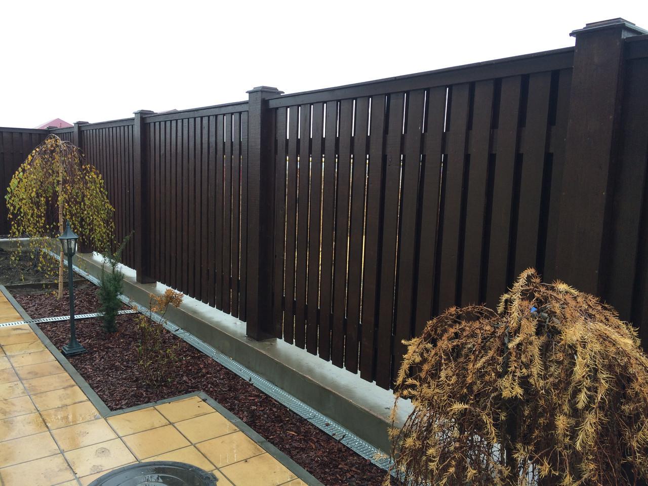 Эксклюзивный коттеджный деревянный забор LNK