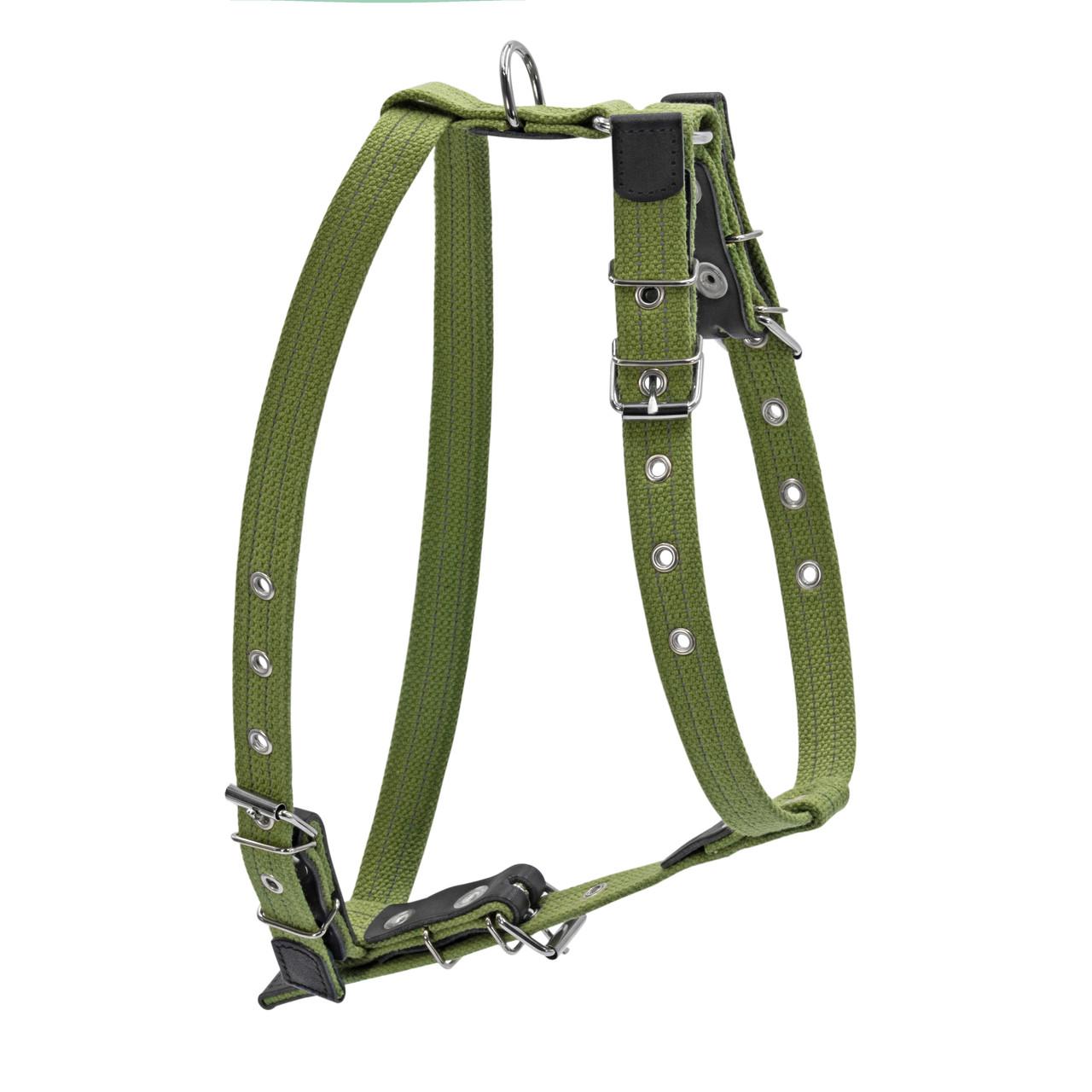 Шлея CoLLaR х/б тесьма со светоотражающей нитью для средних собак зеленый  (0637)