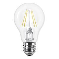 Лампа светодиодная Maxus A60 FM (8W, 3000K, 220V, E27)