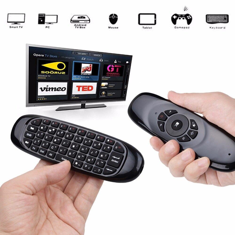 Пульт с клавиатурой Air mouse Smart TV C120 Черный